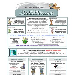 Math Bits High School Math Resources