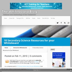 10 Secondary Science Resources for your Whiteboard
