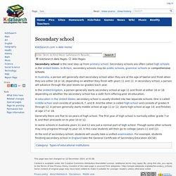 Secondary school Facts for Kids