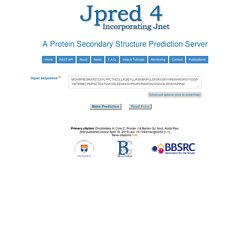 JPred: A Protein Secondary Structure Prediction Server