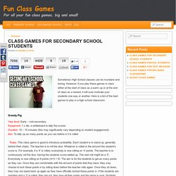 Class Games For Secondary Students - Fun Class GamesFun Class Games