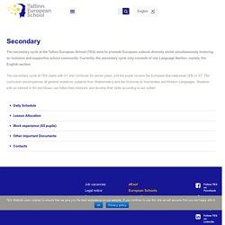 Secondary – Tallinn European School