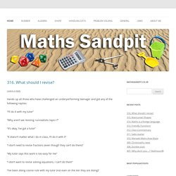 Secondary Maths Teaching Inspiration