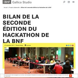 Bilan de la seconde édition du Hackathon de la BnF