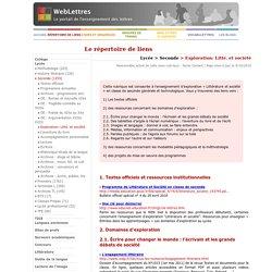 Lycée > Seconde > Exploration: Litté. et société