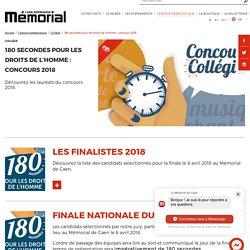 180 secondes pour les droits de l'homme : concours 2018 · Mémorial de Caen