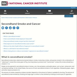 Secondhand Smoke and Cancer