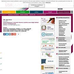 USR Lazio - Linee Guida per il secondo biennio e quinto anno degli Istituti Tecnici e Professionali