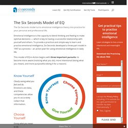 The Six Seconds Model of Emotional Intelligence: EQ in Action