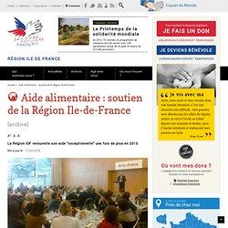 SECOURS POPULAIRE 19/03/13 Aide alimentaire : soutien de la Région Ile-de-France