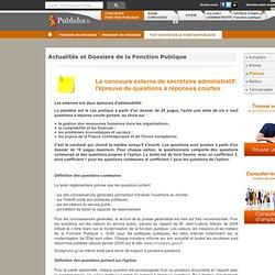 Le concours externe de secrétaire administratif: l'épreuve de questions à réponses courtes