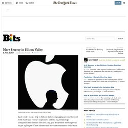 More Secrecy in Silicon Valley