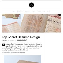 Top Secret Resume Design