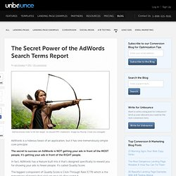 The Secret Power of the AdWords Search Terms Report