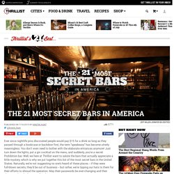 Secret Bars - Hard to Find Speakeasies
