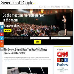 The Secret Behind How The New York Times Creates Viral Articles