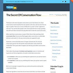 » The Secret Of Conversation Flow – Improve Your Social Skills