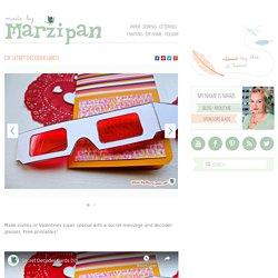 DIY Secret Decoder Cards: Made By Marzipan