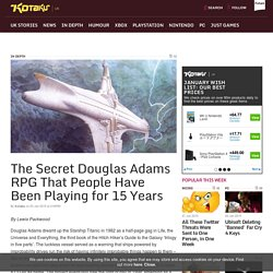 The Secret Douglas Adams RPG That People Have Been Playing for 15 Years