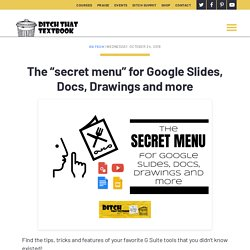 """The """"secret menu"""" for Google Slides, Docs, Drawings and more - Ditch That Textbook"""
