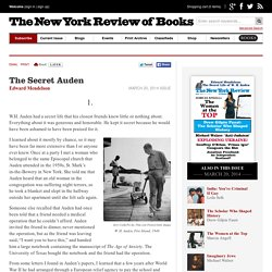 The Secret Auden by Edward Mendelson