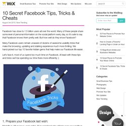 10 Secret Facebook Tips, Tricks & Cheats