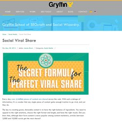 The Secret Formula for the Perfect Social Viral Share