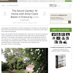 The Secret Garden: At Home with Artist Claire Basler in France: Gardenista