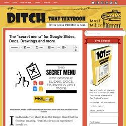 "The ""secret menu"" for Google Slides, Docs, Drawings and more"