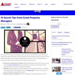 10 Secret Tips from Great Property Managers
