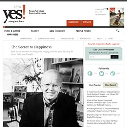 The Secret to Happiness by David Myers - YES! Magazine