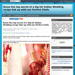 Know the top secret of a big fat Indian Wedding recipe link up with our Perfect Chefs