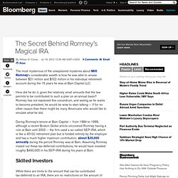 The Secret Behind Romney's Magical IRA