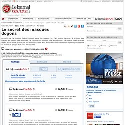 Le secret des masques dogons - L'Oeil - n° 526 - Mai 2001