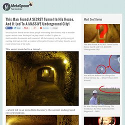 This Man Found A SECRET Tunnel In His House. And It Led To A MASSIVE Underground City!