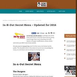 In-N-Out Secret Menu ® - 80+ Hidden Items for 2016