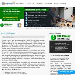 10 Top Sales Secret, Online sale training course