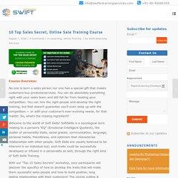 Top 10 Sales Secret, Online sale training course