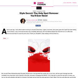 Style Secret: The Only Spot Remover Youll Ever Need: Slaves to Fashion:...