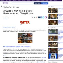 A Guide to New York's 'Secret' Restaurants and Dining Rooms | The New York City Local