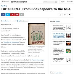 TOP SECRET: From Shakespeare to the NSA