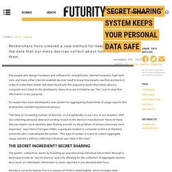 'Secret sharing' system keeps your personal data safe