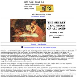 Secret Teachings of All Ages Index
