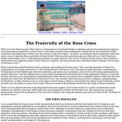 Secret Teachings of All Ages: The Fraternity of the Rose Cross