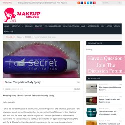 Secret Temptation Body Spray - MakeupEra