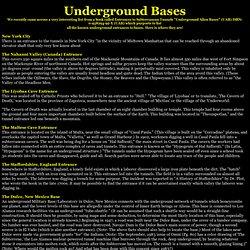 Secret Underground Bases