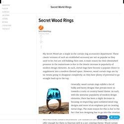 SecretWood Rings