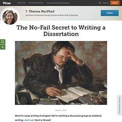 The No-Fail Secret to Writing a Dissertation