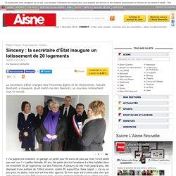 Sinceny : la secrétaire d'État inaugure un lotissement de 20 logements - 25/11/16