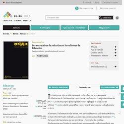 Les secretaires de redaction et les editeurs de Libération